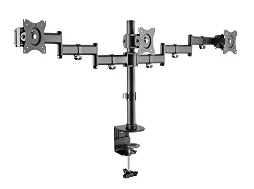 Rocelco Triple Articulated Dual Monitor Desk Mount (R DM3)