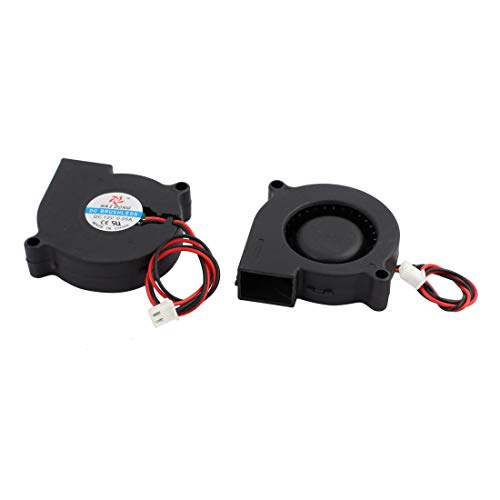 uxcell 2pcs DC12V 50mm x 50mm x 15mm DC Brushless Turbo Blower Cooler Cooling Fan