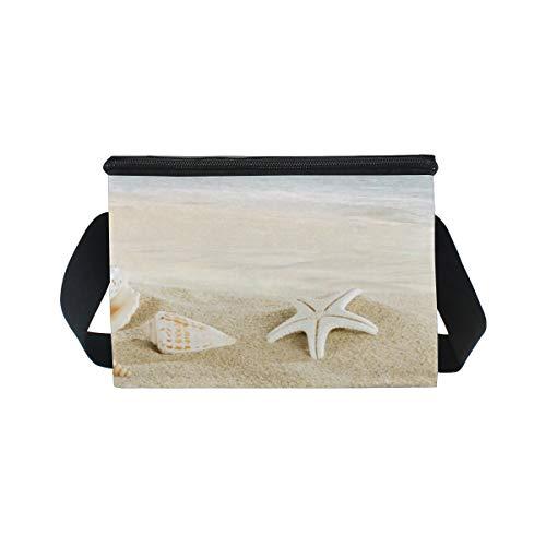 Bandoulière étoile Seashell Sac lunch Boîte mer à Plage nique Cooler à Tropical pour déjeuner de pique x07w0I