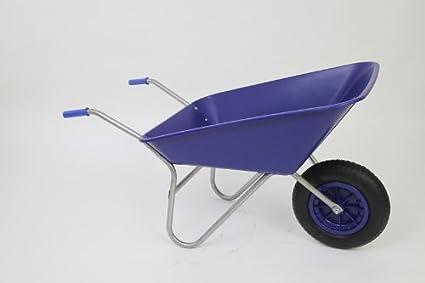 Burnhills 100Ltr Classic Blue Wheelbarrow