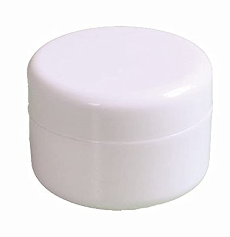 2oz New Empty High Quality White Plastic Jar with Dome Lid Cosmetic Containers 4 pk Mini Jar - Salve 2 Oz Cream