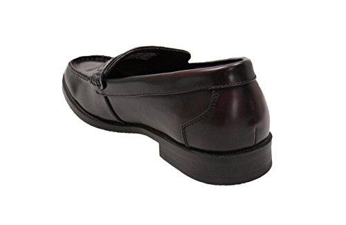 Mocassini uomo class marrone brown ecopelle scarpe slip on eleganti man's shoes