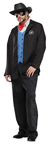 Old Wild West Avenger Masked Cowboy Outlaw Sheriff Adult Mens Halloween Costume