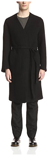 Damir Doma Men's Caiffe Collarless Coat, Coal, 50 - Doma Damir Men