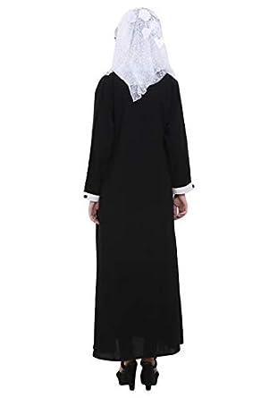 Maxi Radanya Robe Femmes Jilbab Manches Abaya À Longues Cru Été rdChQts