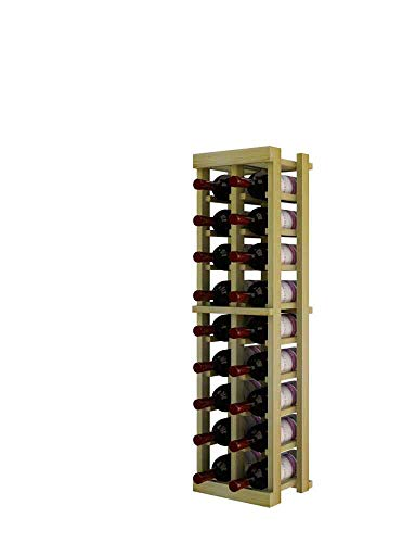 Winemaker Series Wine Rack - 2 Column - 3 Ft - Pine Unstained