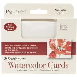 Strathmore Artist Papers Watercolor Cards 10 Blank Cards and Envelopes (Pack of 3)