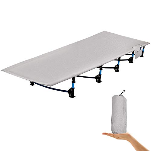 REDCAMP Folding Camping Cots for Adults, Ultra Lightweight Backpacking Cot for Tents, Compact Portable Cot for Sleeping,Gray