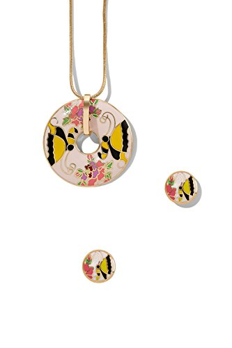 enamel-pendant-necklace-earring-set-snake-chain-circle-dolphin-charm-round-studs-5