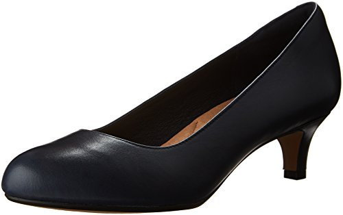 Clarks Womens Heavenly Shine Dress Pump Navy Leather