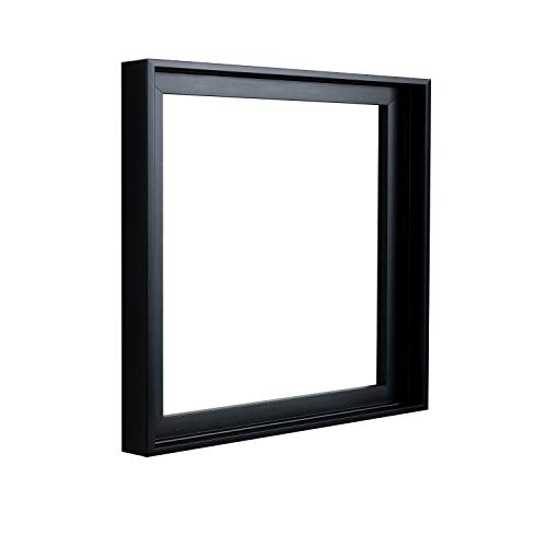 (Square Floater Frames for Canvas Paintings 10x10 | Floater Frame for Stretched Canvas, Canvas Panels and Finished Artwork | 1-3/8