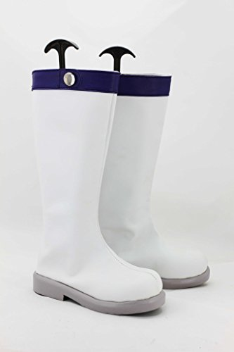 Fata Coda Lucy Scarpe Cosplay Stivali Su Misura Bianco