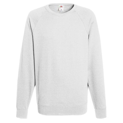 Fruit of the Loom Mens Lightweight Raglan Sweatshirt (240 GSM) (M) (White)