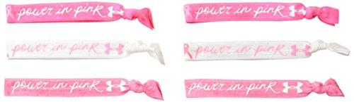 (Under Armour Women's Pip Hair Tie, Cerise (654)/White, One Size)