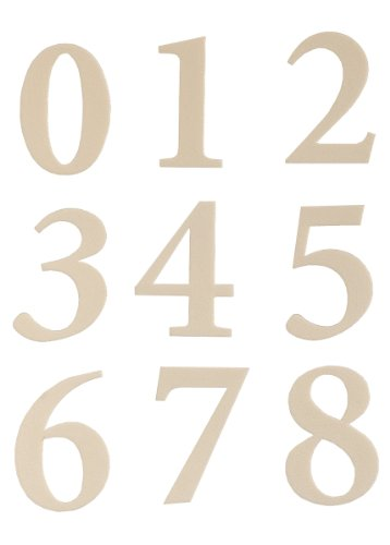 Hy-Ko Products MM-200W Self Adhesive Molded Plastic Numbers 2.375