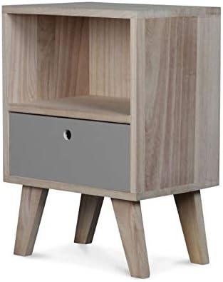 Haut50cmAmazon en Bois Wadiga Chevet de Table Design XPuiOkZT