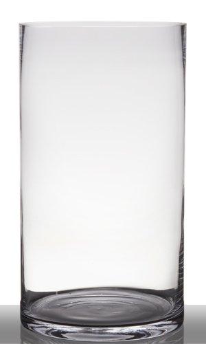Amazon De Inna Glas Bodenvase Glas Sansa Zylinder Rund Klar 45cm