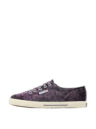 Superga 2950 Velvu - Zapatos con cordones de lona unisex Prune