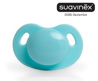 Suavinex - Chupete Dental Anatomico Silicona, 6M, Roano Azul ...