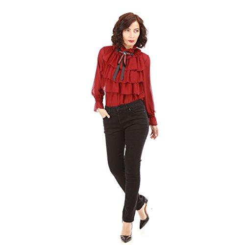 La Droite Coupe Noir Jeans Femme Modeuse 8prI8