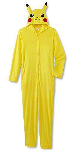 Pokemon Pikachu Junior Girls Union Suit Pajamas One