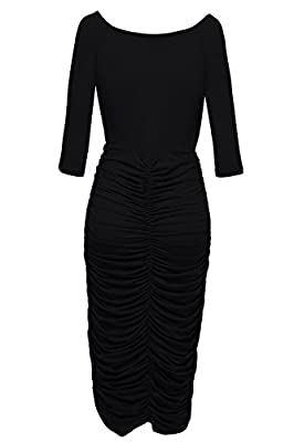 VIISHOW Womens Plus Size Deep V Neck Wrap Ruched Waisted Bodycon Dress