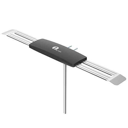 1byone Wing 80 Mile Amplified Digital HDTV Antenna, Outdoor/