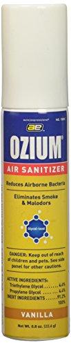 Ozium Glycol-Ized Professional Air Sanitizer / Freshener Vanilla Scent, 0.8 oz. aerosol (OZ-23) (Sanitizer Glycolized Air)