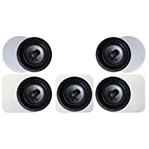 Ready2Rock In-wall Home Theatre Speaker Package with 5.1 Stereo Surround Sound and Low-profile Frameless Speaker Grills