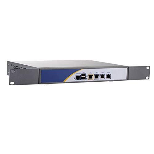 Firewall, Mikrotik, Pfsense, VPN, Network Security Appliance,Router PC,Intel Atom D525,(Gray),[Hunsn RS01],[4 Intel Gigabit LAN/2USB2.0/1COM/1VGA/FAN],(4G RAM/32G SSD)