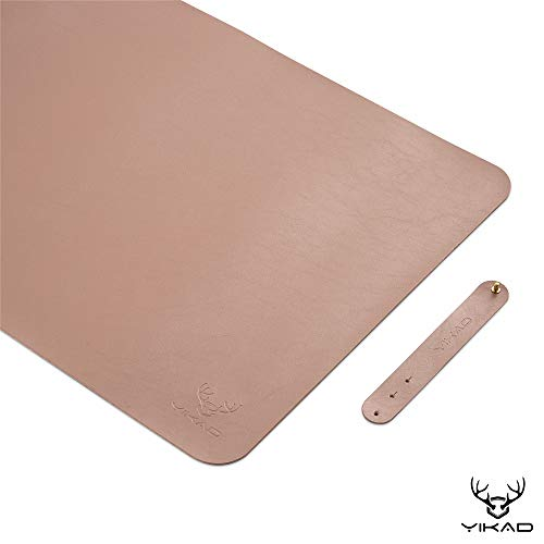 "Yikda Extended Leather Gaming Mouse Pad / Mat, Large Office Writing Desk Computer Leather Mat Mousepad,Waterproof,Ultra Thin 1.2mm - 31.5""x15.7"" (Pink)"