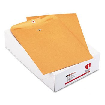 (Universal Kraft Clasp Envelope, Side Seam, 32lb, 10 x 13, Light Brown, 100/Box)