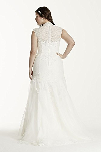 94220b2a68a4 Melissa Sweet Trumpet Lace Plus Size Wedding Dress Style MS251005W