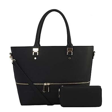 Women's Leather Handbags Black Hobo Bags Crossbody Sling Shoulder Bag Travel