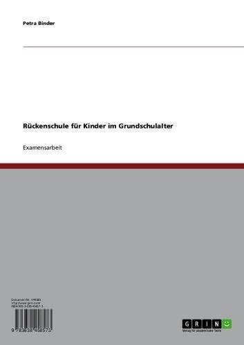 Download Rückenschule für Kinder im Grundschulalter (German Edition) Pdf
