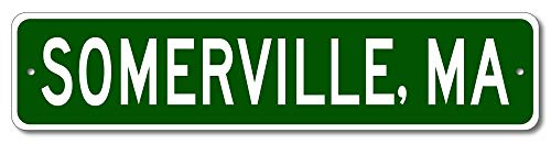 Somerville, Massachusetts - USA City and State Street Sign - Aluminum 4