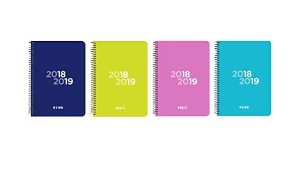 Enri 400106089 - Agenda escolar, día página con espiral y ...