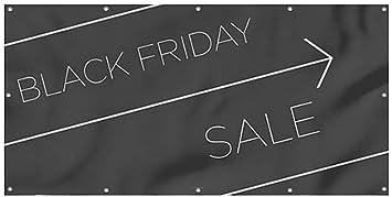 Black Friday Sale 8x4 Basic Black Heavy-Duty Outdoor Vinyl Banner CGSignLab