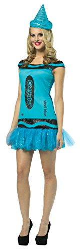 [Rasta Imposta Womens Crayola Glitz And Glitter Steel Blue Adults Fancy Costume, One Size] (Crayola Steel Glitz Costumes)