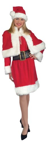 Forum Novelties Women's Miss Santa Suit Costume, Red/White,