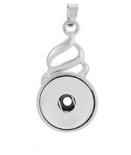 My Prime Gifts Interchangeable Snap Jewelry Swirls Pendant fits 18-20mm Snaps by]()