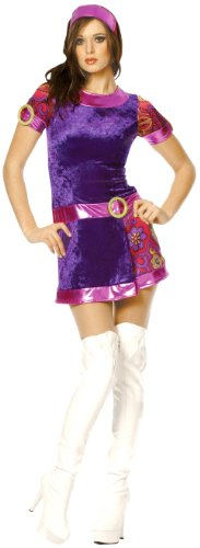 Funky Mod Sixties Costume - Funky Mod Sixties Adult Costume - Womens Small