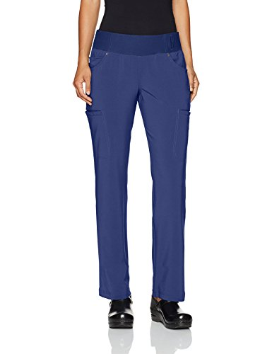 - Cherokee Women's iflex Mid Rise Straight Leg Pull-on Pant,Navy,Medium Regular