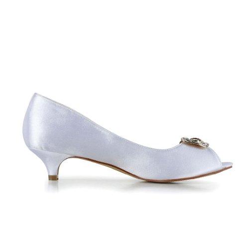Mariage Mariée Pour Chaussures 0116 De Femme Blanc Escarpins Jia Wedding SwFTXX