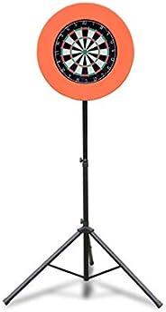 Black Dartboard Stand Unisex's, Darts Portable Travel Tripod Board Holder, Mobile & Height-Adjustable,
