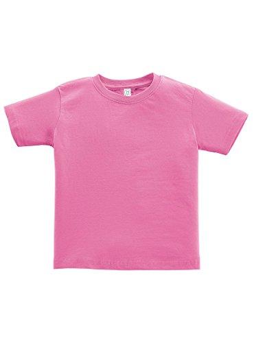 Rabbit Skins 5.5 oz Little Kid Short-Sleeve T-Shirt, 4T, Raspberry