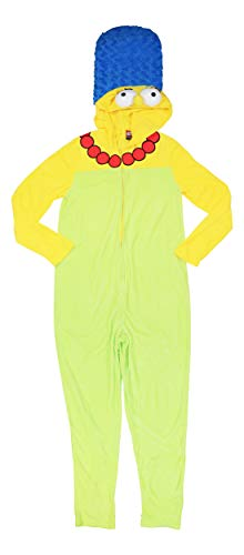 Briefly Stated Marge Simpson Hooded Costume One Piece Pajamas (Marge, Large)