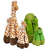 Patchwork Pet Long Legs Giraffe 8-Inch Squeak Toy for Dogs