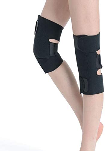 LilyAngel 自己発熱膝パッド トルマリン膝パッド 男性と女性のための磁気療法膝パッド 暖かい古い寒い脚寒い膝のパッド 幸せの膝のパッド (Color : ブラック)