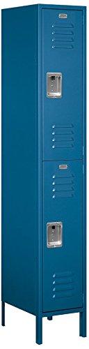 Salsbury Industries 52168BL-U Double Tier 15-Inch Wide 6-Feet High 18-Inch Deep Unassembled Extra Wide Standard Metal Locker, Blue - Wide Double Tier Electronic